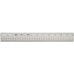 "Alvin® 24"" Aluminum Ruler: Metallic, Aluminum, 24"", Ruler, (model AS07-24), price per each"