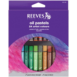 Reeves™ Large Oil Pastel 24-Color Set: Multi, (model 4881586), price per set
