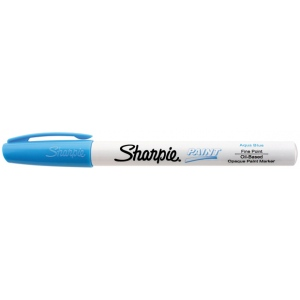 Sharpie® Oil Paint Marker Fine Aqua; Color: Blue; Ink Type: Paint; Tip Type: Fine Nib; (model SN35548), price per each