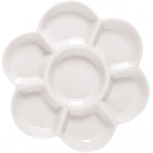 "Heritage Arts™ Porcelain Blossom Dish: Plastic, 7 Wells, Flower, 6"" x 5/8"", (model TX340), price per each"