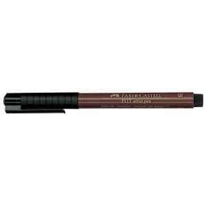 Faber-Castell® PITT® Artist Pen Sepia Brush: Brown, India, Pigment, Brush Nib, (model FC167475), price per each