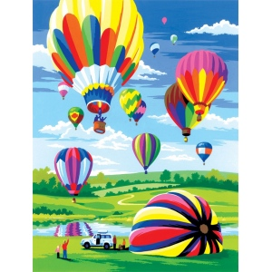 "Royal & Langnickel® Painting by Numbers™ 8 3/4 x 11 3/8 Junior Small Set Hot air Balloon; Board Size: 8 3/4"" x 11 3/8""; (model PJS34), price per set"