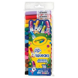 Crayola® Pip-Squeaks® Washable Original Marker 16-Color Set: Multi, Washable, (model 58-8703), price per pack