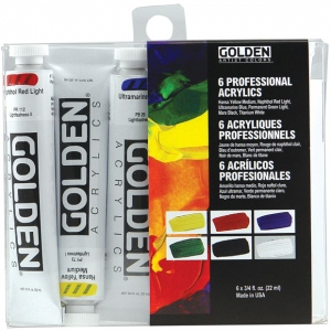 Golden® Heavy Body Acrylic Introductory Set; Color: Multi; Format: Tube; Size: 22 ml; Type: Acrylic; (model 0000074-0), price per set