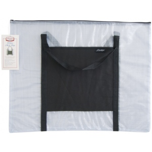 "Alvin® NBH Deluxe Series Deluxe Mesh Bag 20"" x 26""; Color: Black/Gray, Clear; Material: Mesh, Nylon, Vinyl; Size: 20"" x 26""; (model NBH2026), price per each"