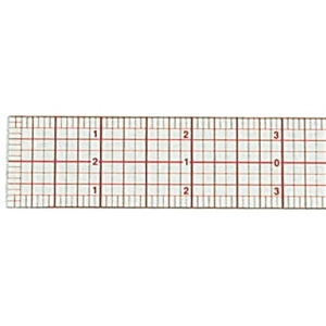 "Westcott® C-Thru® 6"" Standard Beveled Ruler; Color: Clear; Material: Plastic; Size: 6""; Type: Ruler; (model B50), price per each"