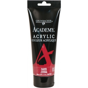 Grumbacher® Academy® Acrylic Paint 200ml Alizarin Crimson: Red/Pink, Tube, 200 ml, Acrylic, (model GBC001P200), price per tube
