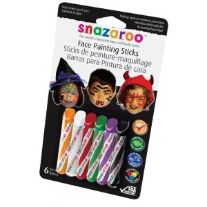 Snazaroo™ Face Painting 6-Stick Halloween Set: Multi, Stick, (model 1160603), price per set