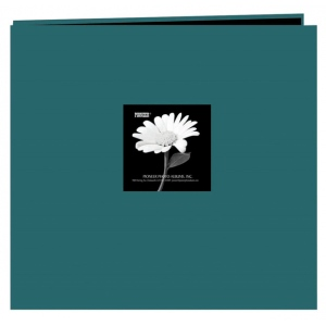 "Pioneer® 12 x 12 Fabric Frame Scrapbook Majestic Teal; Color: Blue; Material: Fabric; Page Count: 10 Page Protectors; Size: 12"" x 12""; (model MB10CBFN/MT), price per each"