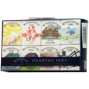 Winsor & Newton™ Drawing Ink Supplemental Set; Color: Multi; Format: Bottle; Size: 14 ml; Type: Drawing Ink; (model 1090094), price per set