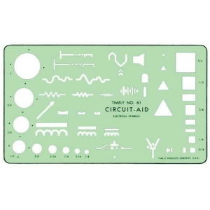 "Timely® Circuit Aid Template; Size: 4 1/2"" x 7 3/4"" x .020""; Type: Mechanical; (model 61T), price per each"