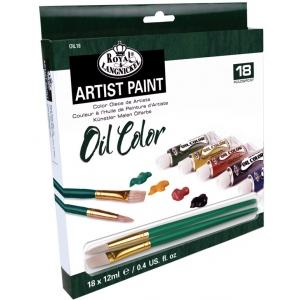 Royal & Langnickel® Oil Paint 18-Color Set; Color: Multi; Format: Tube; Size: 12 ml; Type: Oil; (model ROIL18), price per set