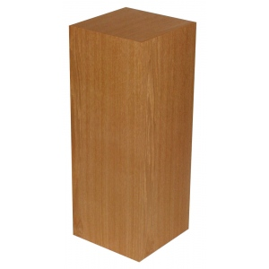 "Xylem Cherry Wood Veneer Pedestal: 15"" X 15"" Size, 18"" Height"