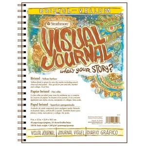 "Strathmore® 9"" x 12"" Vellum Wire Bound Bristol Book: Wire Bound, White/Ivory, Book, 24 Sheets, 9"" x 12"", Bristol, 100 lb, (model ST460-29), price per each"