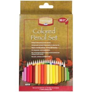 Heritage Arts™ 36-Piece Colored Pencil Set: Multi, Pencil, Multi, 3mm, (model HCP36), price per set