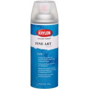 Krylon® Gallery Series™ Fine Art Fixatif Spray; Size: 11 oz; Type: Final Fixative, Workable Fixative; (model K1374), price per each