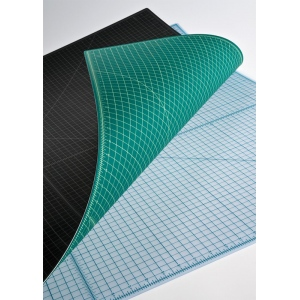 "Alvin® TM Series Translucent Professional Self-Healing Cutting Mat 18 x 24; Color: Clear; Grid: Yes; Material: Vinyl; Size: 18"" x 24""; Thickness: 3mm; Type: Cutting Mat; (model TM2224), price per each"