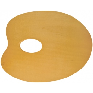 """Heritage Arts™ Oval Beechwood Palette 9"""" x 7""""; Material: Beechwood; Shape: Oval; Size: 7"""" x 9 3/4""""; (model CW180-1), price per each"""