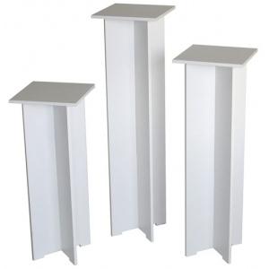 "Xylem Quick Set Pedestal, White: Single, 11-1/2"" x 11-1/2"" Body Size, 30"" Height"