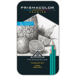 Prismacolor® Premeir Turquoise® Premier Soft Drawing Pencil Set: Black/Gray, Drawing, (model SN24191), price per set