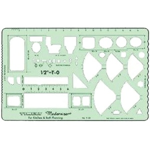 Timely kitchen bathroom planner 1 2 scale for Bathroom templates for planning