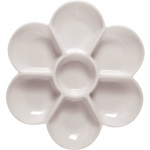 "Heritage Arts™ Sectional Palette: Plastic, 7 Wells, Flower, 7"" x 5/8"", (model TX342), price per each"