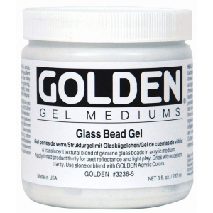 Golden® Glass Bead Gel Medium 8 oz.; Size: 236 ml, 8 oz; Texture: Glass Bead; Type: Gel; (model 0003236-5), price per each