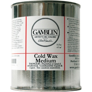 Gamblin Cold Wax Medium 16oz; Size: 16 oz; Type: Wax; (model G03016), price per each