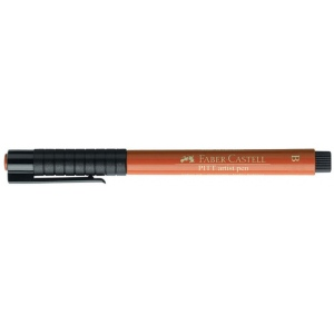 Faber-Castell® PITT® Artist Pen Sanguine Brush: Brown, Orange, India, Pigment, Brush Nib, (model FC167488), price per each