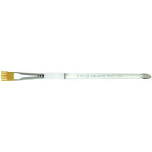 Royal & Langnickel® Aqualon Taklon Watercolor and Acrylic Brush Wisp Brush 1/4; Grade: Best; Length: Short Handle; Material: Taklon; Shape: Wisp Brush; Type: Acrylic, Watercolor; (model R2735-1/4), price per each