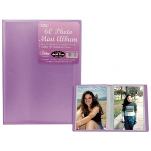 """Pioneer® 4"""" x 6"""" Polypropylene Photo Album; Color: Assorted; Material: Polypropylene; Size: 4"""" x 6""""; (model IP60), price per each"""