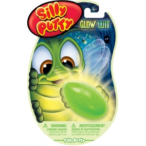 Silly Putty® Glow; Color: Glow in the Dark; Size: 10.6 g; Type: Silly Putty; (model 08-0316), price per each