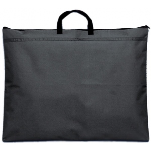 "Prestige™ Student™ Series Black Soft-Sided Portfolio 18"" x 21""; Color: Black/Gray; Gusset Size: 1/2""; Material: Nylon; Size: 18"" x 21""; (model N1821), price per each"