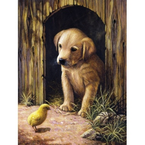 """Royal & Langnickel® Painting by Numbers™ 8 3/4 x 11 3/8 Junior Small Set Labrador Pup; Board Size: 8 3/4"""" x 11 3/8""""; (model PJS50), price per set"""