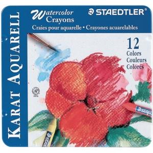 Staedtler® Karat Aquarell Watercolor Crayon 12-Color Set: Watercolor, (model 223M12), price per set