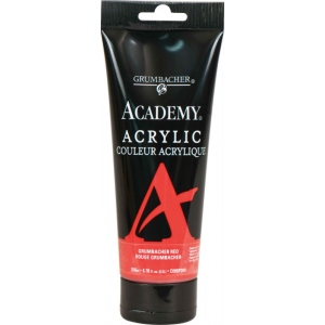 Grumbacher® Academy® Acrylic Paint 200ml Grumbacher Red; Color: Red/Pink; Format: Tube; Size: 200 ml; Type: Acrylic; (model GBC095P200), price per tube
