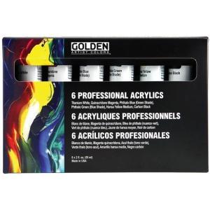 Golden® Heavy Body Acrylic Set: Multi, Tube, 2 oz, 59 ml, Acrylic, (model 0000910-0), price per set