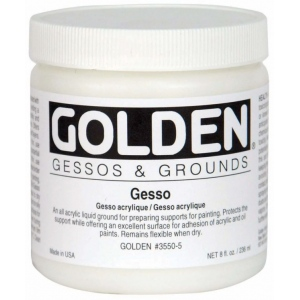 Golden® Gesso 32 oz.: White/Ivory, 32 oz, 946 ml, Gesso, (model 0003550-7), price per each