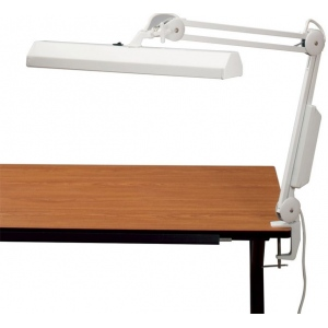 """Alvin® Fluorescent Task Light White; Color: White/Ivory; Shade Size: 10"""" & Up; Type: Clamp; Wattage: 8-25w; (model FL655-D), price per each"""