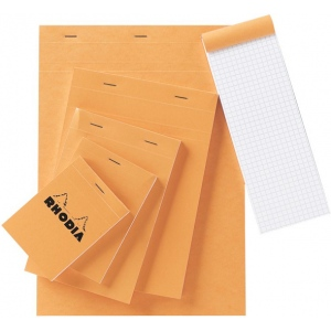 """Rhodia 2.75 x 4.5 Graphic Sketch/Memo Pad; Color: White/Ivory; Format: Pad; Grid Size/Pattern: 5"""" x 5""""; Quantity: 80 Sheets; Size: 2 3/4"""" x 4 1/2""""; Weight: 20 lb; (model RA11), price per 80 Sheets pad"""