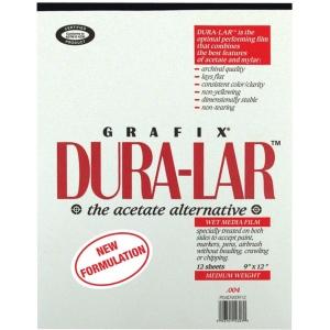 """Grafix® Dura-lar™ 9"""" x 12"""" Wet Media Film: Pad, 12 Sheets, 9"""" x 12"""", .004"""", Wet Media, (model 4DW0912), price per 12 Sheets pad"""