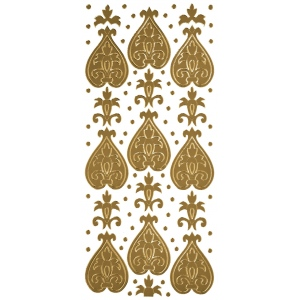 "Blue Hills Studio™ DesignLines™ Outline Stickers Gold #23: Metallic, 4"" x 9"", Outline, (model BHS-DL023), price per pack"