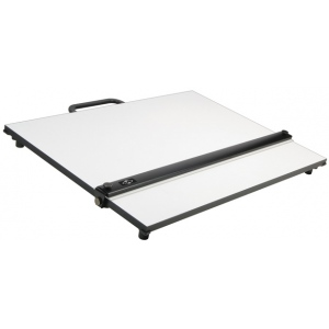 "Alvin® PXB Series Portable Parallel Straightedge Board 24"" x 36""; Color: White/Ivory; Size: 24"" x 36""; Top Material: Melamine; Type: Drawing Board; (model PXB36), price per each"