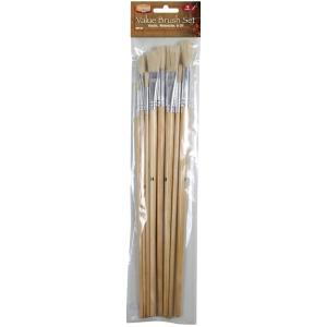 Heritage Arts™ 10-Piece Long Handle Acrylic Brush Value Set: Long Handle, Acrylic, Oil, Watercolor, (model ABP104), price per set