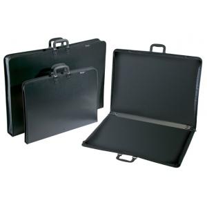 "Prestige™ Studio™ Series Lite Art Portfolio 3"" Gusset 23"" x 31""; Color: Black/Gray; Gusset Size: 3""; Material: Polypropylene; Size: 23"" x 31""; (model PC2331-3), price per each"
