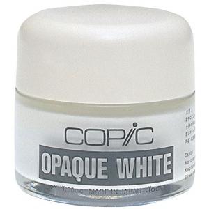 Copic® Opaque White Pigment; Color: White/Ivory; Format: Bottle; (model COPQW), price per each