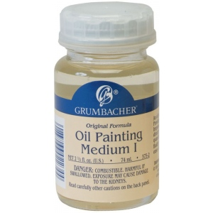 Grumbacher® Matte Finish Oil Painting Medium I; Finish: Matte; Format: Bottle; Size: 2.5 oz; Type: Oil; (model GB5752), price per each