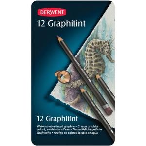 Derwent Graphitint Pencil 12-Color Set; Color: Multi; Type: Watercolor; (model 0700802), price per set