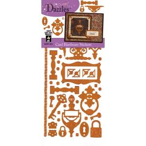 "Dazzles™ Stickers Hardware Copper; Color: Metallic; Size: 4"" x 9""; Type: Flat; (model HOTP1913), price per each"