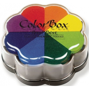 ColorBox® Petal Point Ink Pad Pinwheel: Multi, Pad, Pigment, Petal Points, (model CS08001), price per each